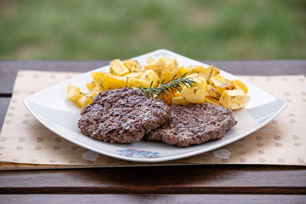Buffalo Hamburger & Baked Potatoes